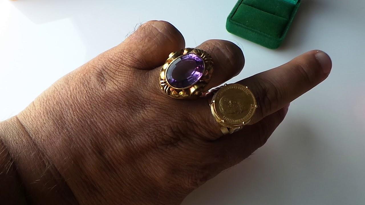 Серебряный набор с золотыми вставками и жемчугом (серьги и кольцо .
