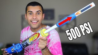 STRONGEST DIY NERF GUN MOD OF ALL TIME!!! 500 PSI!! *WORLD RECORD*