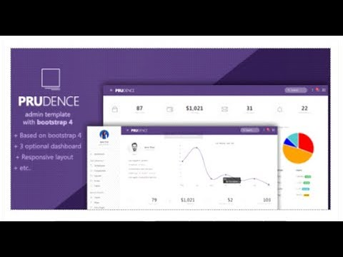 Prudence - Bootstrap Admin Template Themeforest Download - YouTube
