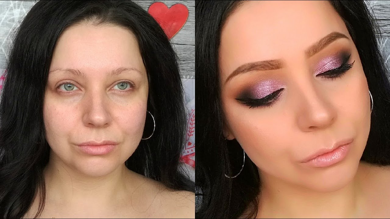 Очень простой и быстрый макияж бюджетной косметикой. Вечерний макияж.