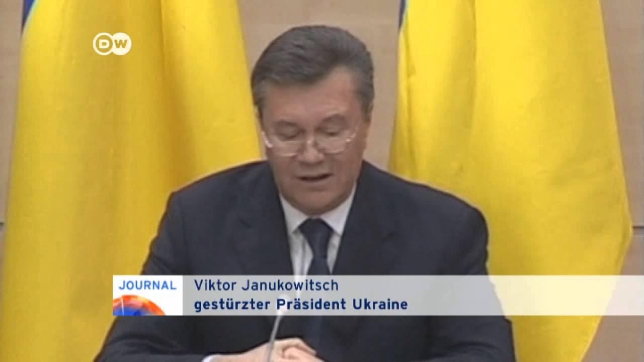 Janukowitsch: Niemand hat mich abgesetzt | Journal - YouTube