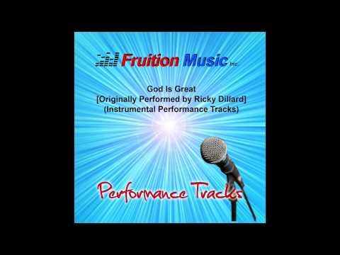 God Is Great (Low Key) [Originally Performed By Ricky Dillard] [Instrumental Track] SAMPLE
