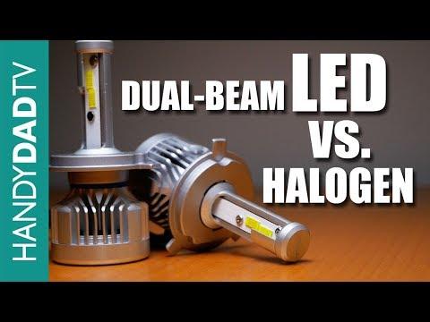 Dual Beam LED vs. Halogen in Reflector Headlights