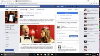 Fotoğraf standında iş için temel bir Facebook reklam oluşturma.