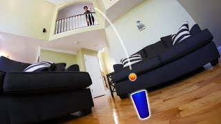 INSANE HOUSE PING-PONG TRICK SHOTS!