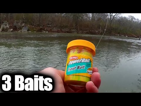 Trout Fishing With Three Different Baits - Which Bait Works The Best?