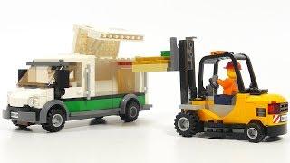 Lego City 60198 Cargo Train - armored bank truck & folklift