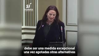 María del Río pregunta al Gobierno sobre el cierre de los CIEs