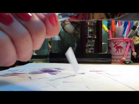 ASMR Cutting Paper and Fabric, Scissor Sounds