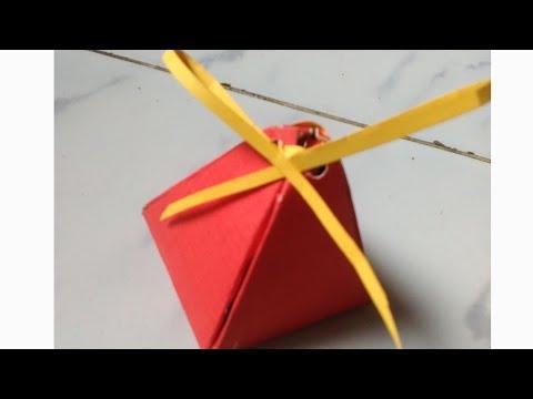 How to make a gift box - DIY Pyramid Box Easy