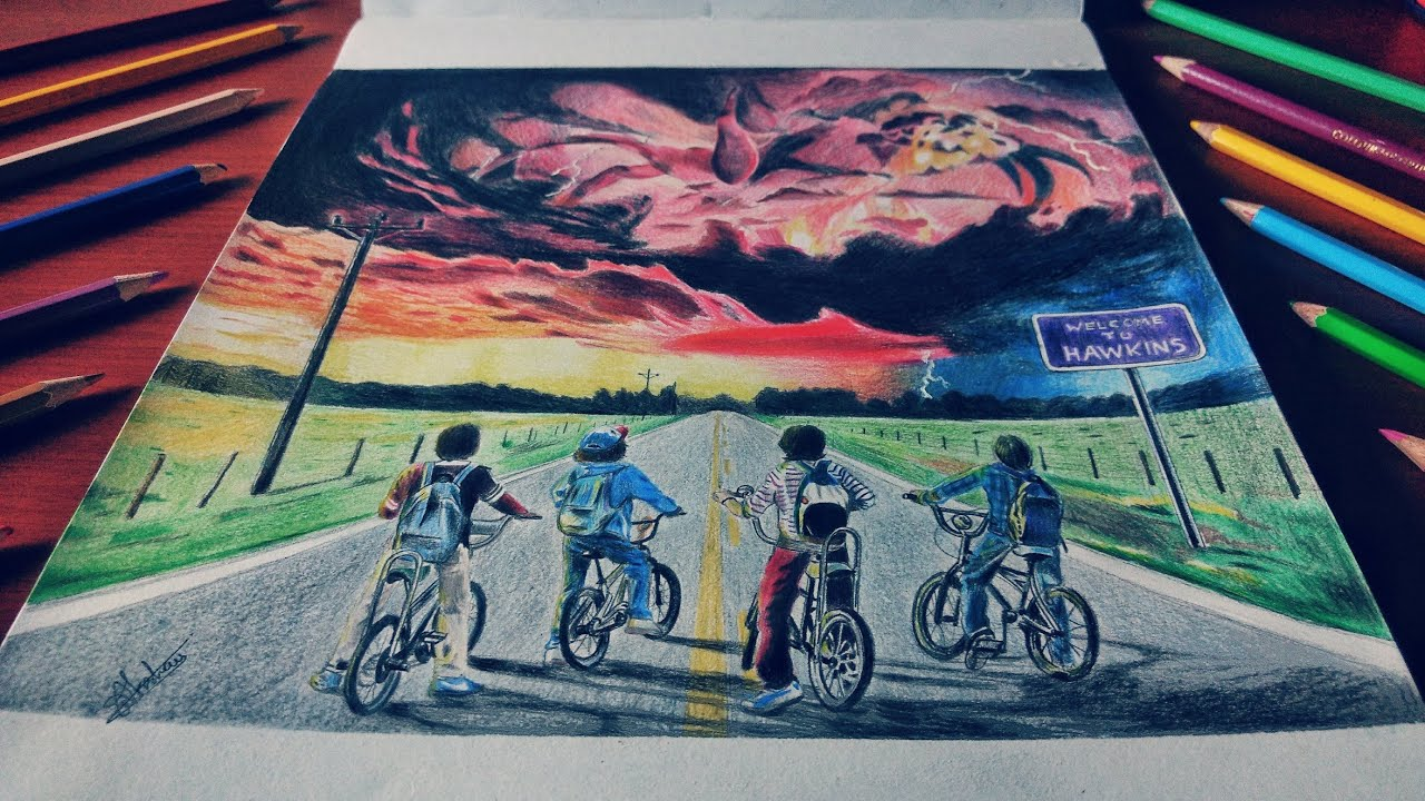 Drawing Of Shadow Monster Stranger Things Season 2 Timelapse Drawings Axy Sty Youtube