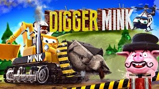 appMink Making a Digger - Construction Digger rescue the Steam Train