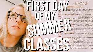 First Day Of My Summer Classes Vlog | Day In My Life At School