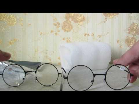 Очки Обзор тест Ретро мужчины женщины круглый зеркало очки для чтения Стиль Гарри Потер