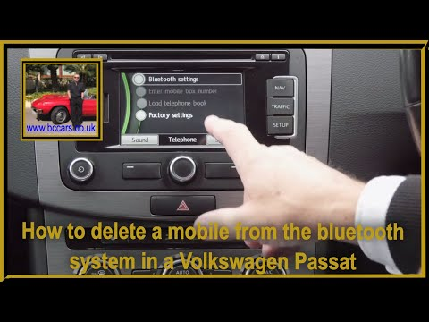 How to delete a mobile from the bluetooth system in a Volkswagen Passat 2 0 TDI BlueMotion Tech High