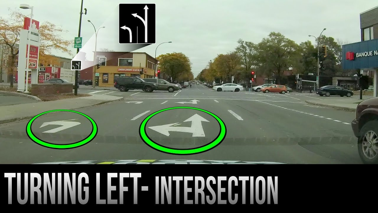 how to turn left at an intersection youtube