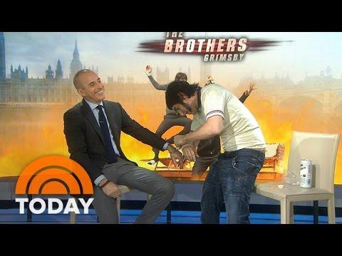 Sacha Baron Cohen (As 'Nobby' Butcher) Handcuffs Himself To Matt Lauer | TODAY