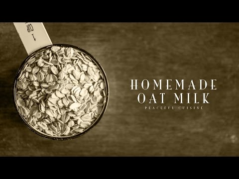 [No Music] How to make Oat Milk
