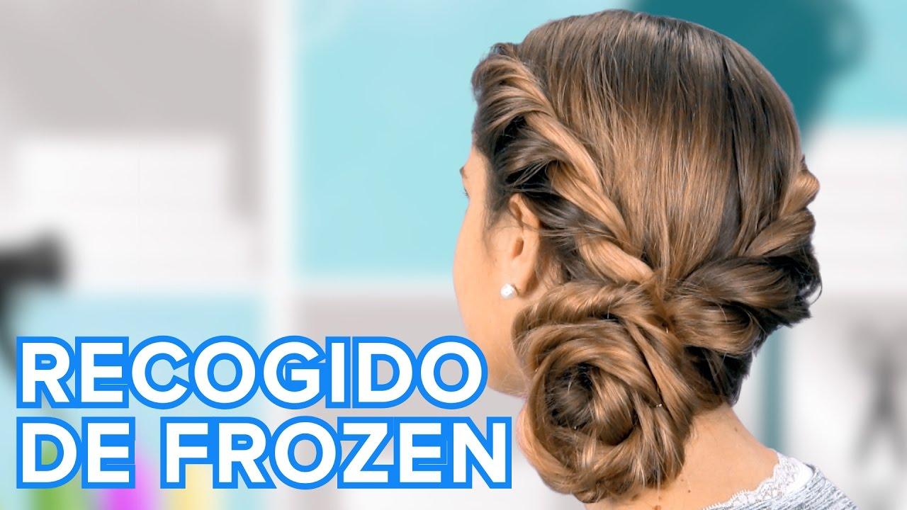 Cómo Hacer El Recogido De Frozen Peinados Para Niñas Youtube