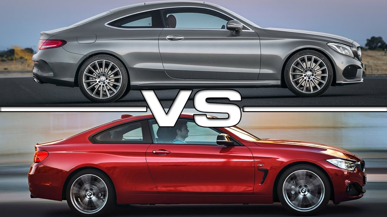 Mercedes Benz C Class Coupe Vs Bmw 4 Series Coupe Youtube