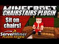How to sit down in Minecraft with ChairStairs Plugin