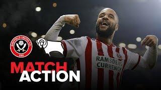 Blades 3-1 Derby - match action