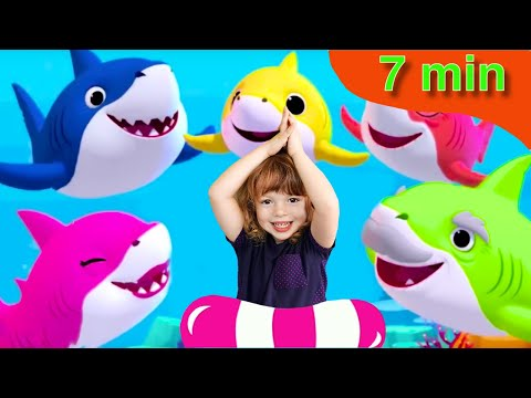 Baby Shark  Dance Compilation - 5 Baby Shark Songs! Nursery Rhymes for Kids by Kids Music Land