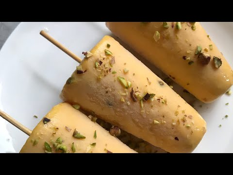 Mango kulfi recipe no cream no condensed milk mango dessert
