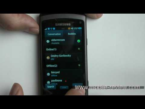 Samsung Wave S8500 Navigation - Social Hub Demo