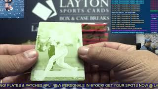 2018 Panini Plates & Patches Football Hobby 12 Box Case Break #4