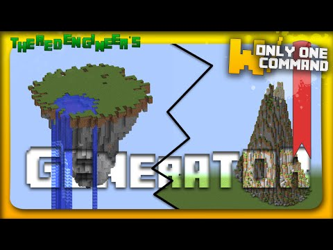 Mountain & Floating Island generator with only one command block