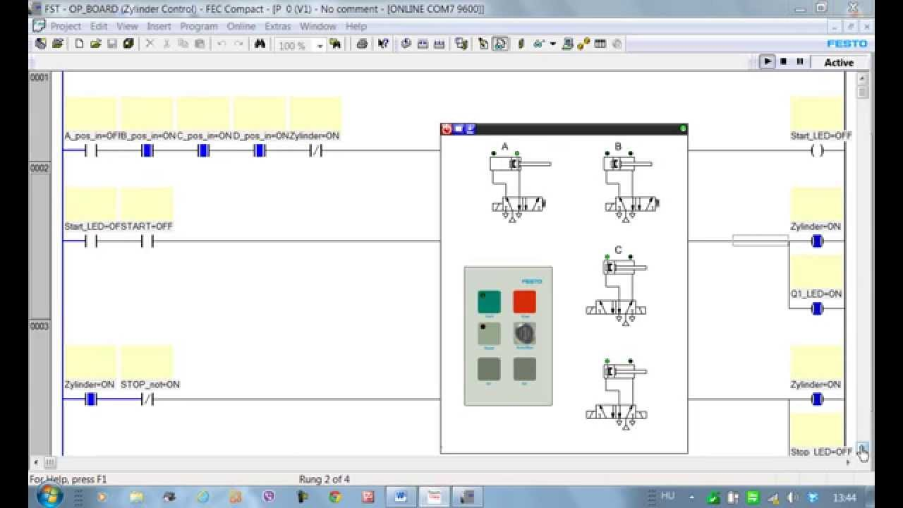 PLC program  EasyVeep  for the FESTO control panel 3  YouTube