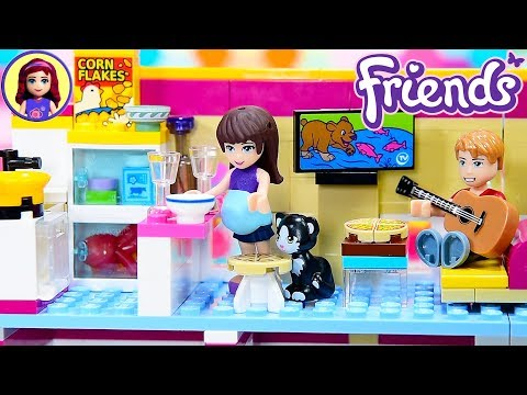Lego Friends Custom Studio Apartment from Renovated Performance School DIY Craft Kids Toys