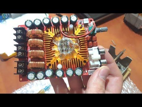 видео: tda7498e в мостовом (btl) включении на нагрузку 3 Ом и 2 Ом