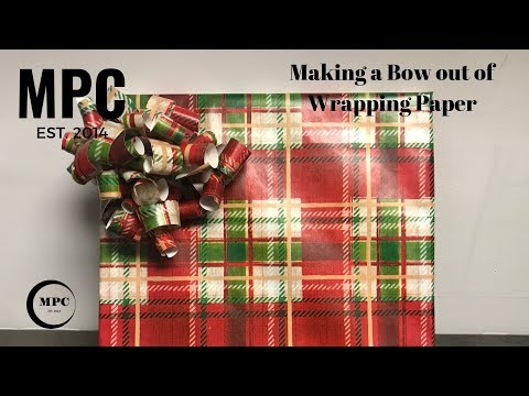Making a Bow out of Wrapping Paper
