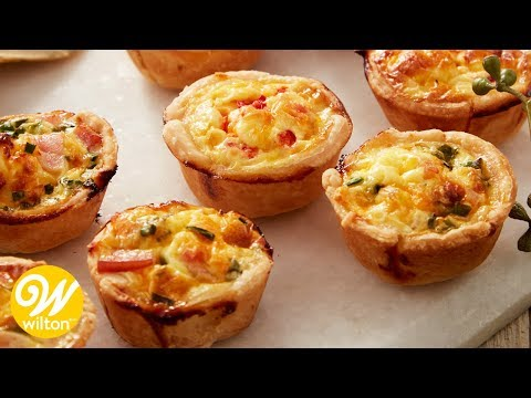 Mini Ham And Cheese Quiche Recipe | Wilton