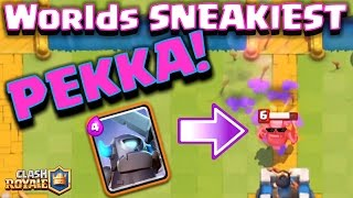 Clash Royale - The *HIDDEN PEKKA TRICK!* (sneakiest move ever??)