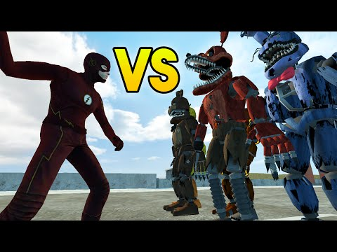 "Garry's Mod ""THE FLASH VS FNAF ANIMATRONICS"" (Gmod Funny Moments, Gmod Sandbox, FNAF Vs Flash)"