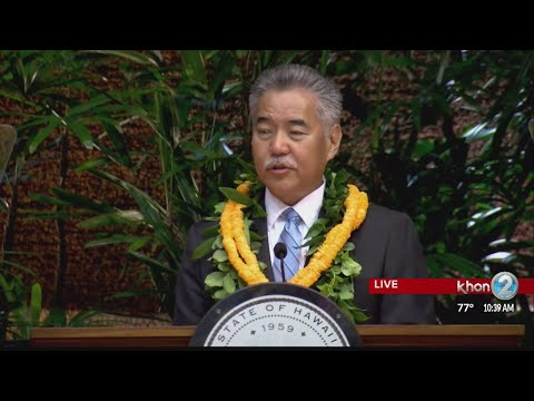 Governor Ige delivers State of the State Address for 2018