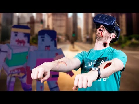 SURVIVING THE ZOMBIE APOCALYPSE IN VR!   BAAM Squad Funny Moments - HTC Vive Pro Gameplay