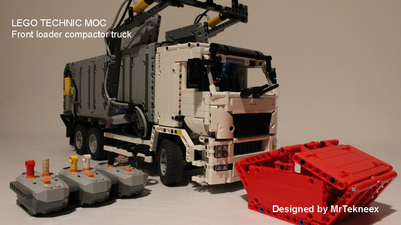 Lego Technic Front Loader Compactor Truck Youtube