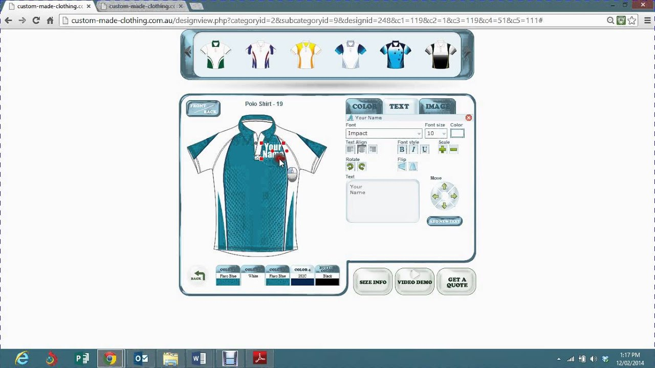 How To Design Your Own Sublimated Polo Shirt Youtube