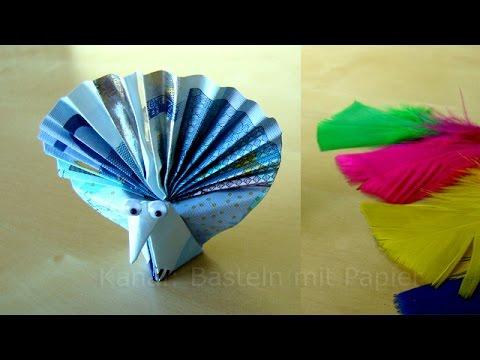 geldschein falten pfau lustige geldgeschenke basteln zur hochzeit origami vogel youtube. Black Bedroom Furniture Sets. Home Design Ideas