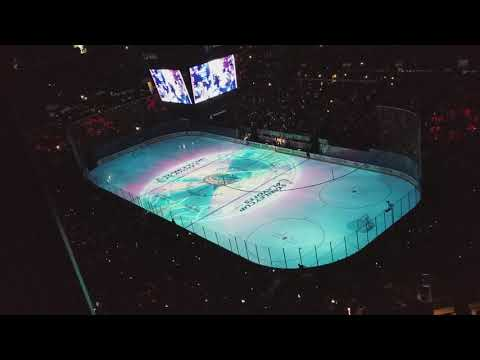Columbus Blue Jackets Playoffs Intro Nationwide Arena Game 3 vs Capitals Round 1 - 04-17-18