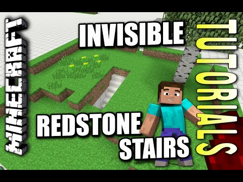 Minecraft PS4 - HIDDEN REDSTONE STAIRS - How To - Tutorial ( PS3 / XBOX )
