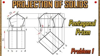 Projection of Solids_Problem 1 in AUTOCAD