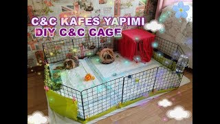 C&C Kafes Yapımı | DIY Guinea Pig C&C Cage | How to Build a C&C Cage? (No Coroplast)