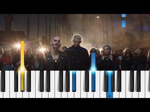 Machine Gun Kelly, X Ambassadors & Bebe Rexha - Home - EASY Piano Tutorial - (Bright: The Album)