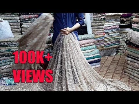 Bridal dress lehenga choli handwork cutdana fabric Saheed cloth mein maujud