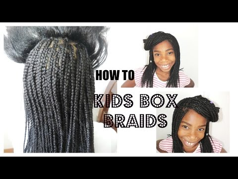kids box braids back to school hairstyle youtube